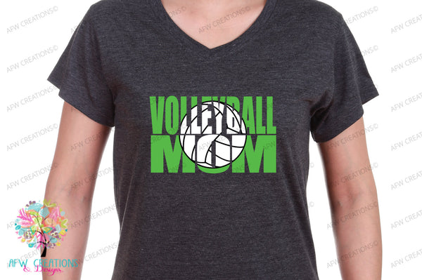 Volleyball Mom #1 - SVG, DXF, EPS