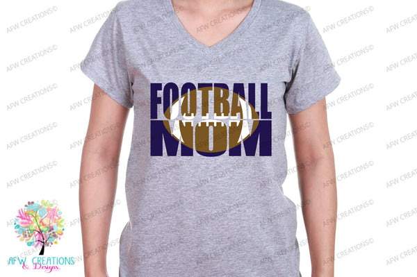 Football Mom #1 - SVG, DXF, EPS