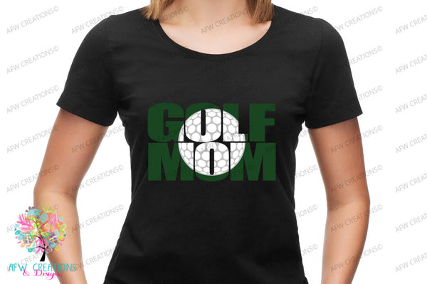 Golf Mom #1 - SVG, DXF, EPS