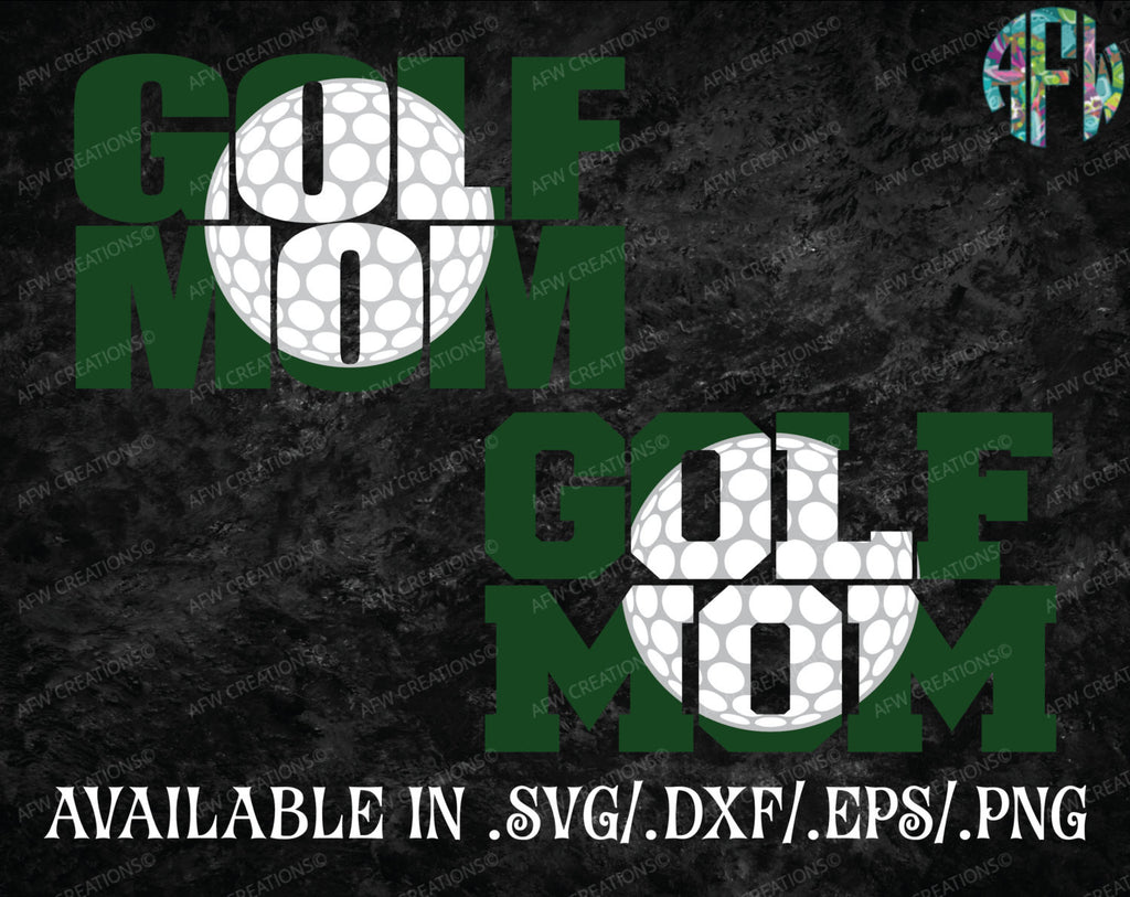 Golf Mom Set - SVG, DXF, EPS