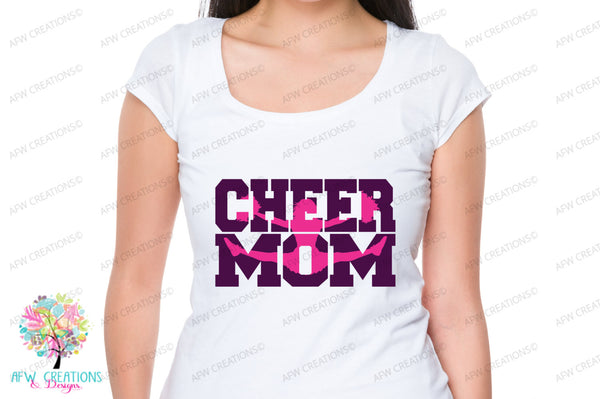 Cheer Mom #4 - SVG, DXF, EPS