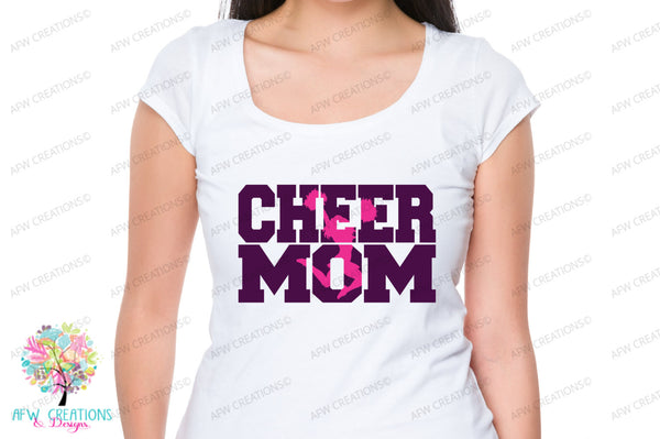 Cheer Mom #5 - SVG, DXF, EPS