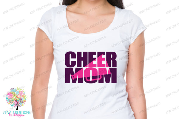 Cheer Mom Set #1 - SVG, DXF, EPS