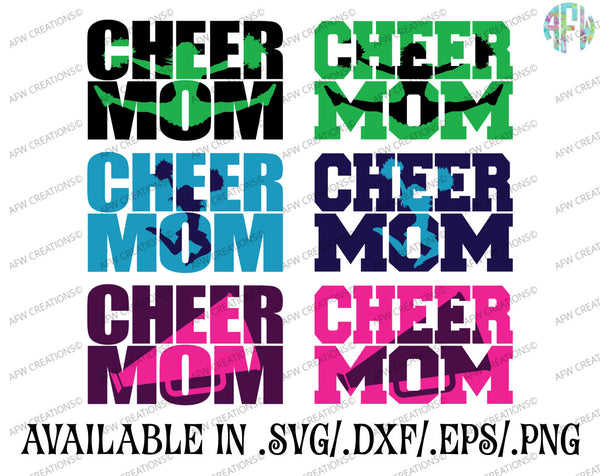 Cheer Mom Bundle - SVG, DXF, EPS