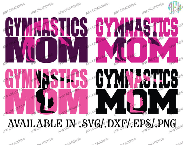 Gymnastics Mom Bundle - SVG, DXF, EPS