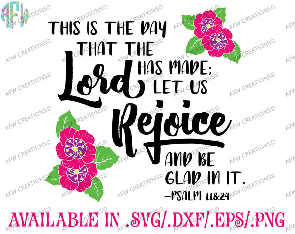 This is the Day Psalm 118:24 - SVG, DXF, EPS