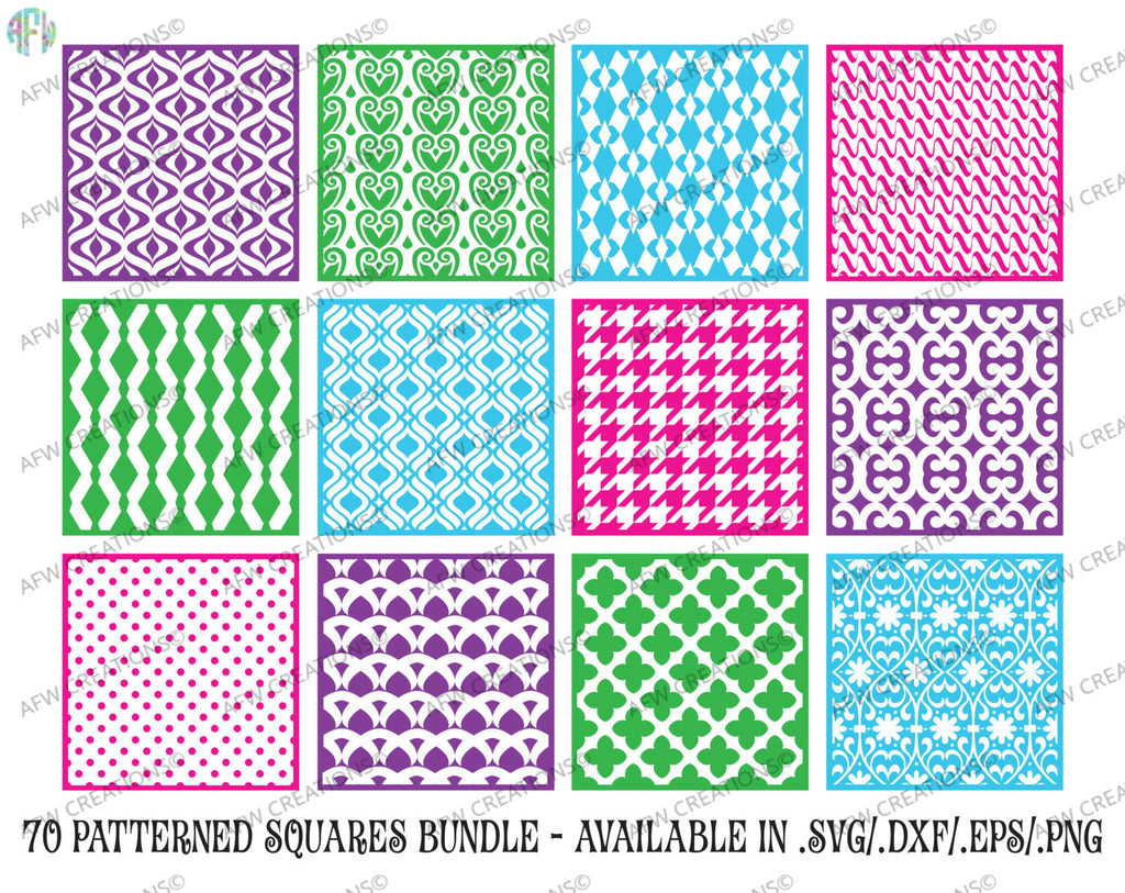 Download Pattern Squares Set 1 – Svg, Dxf, Eps Cut Files DXF