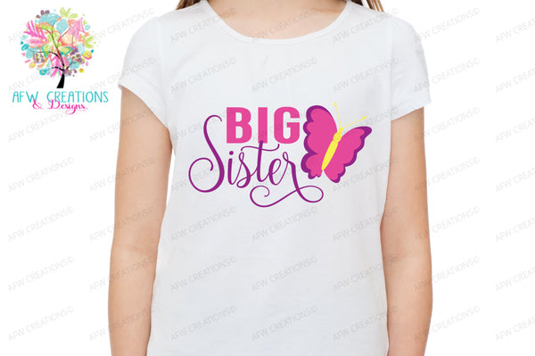Big Sister - Butterfly - SVG, DXF, EPS