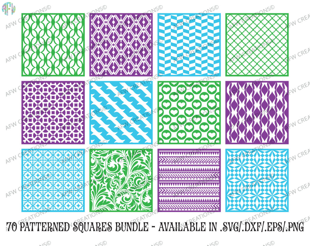 Pattern Squares Big Bundle (70 Patterns)