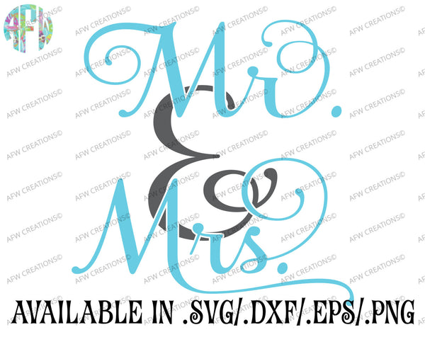 Mr & Mrs - SVG, DXF, EPS