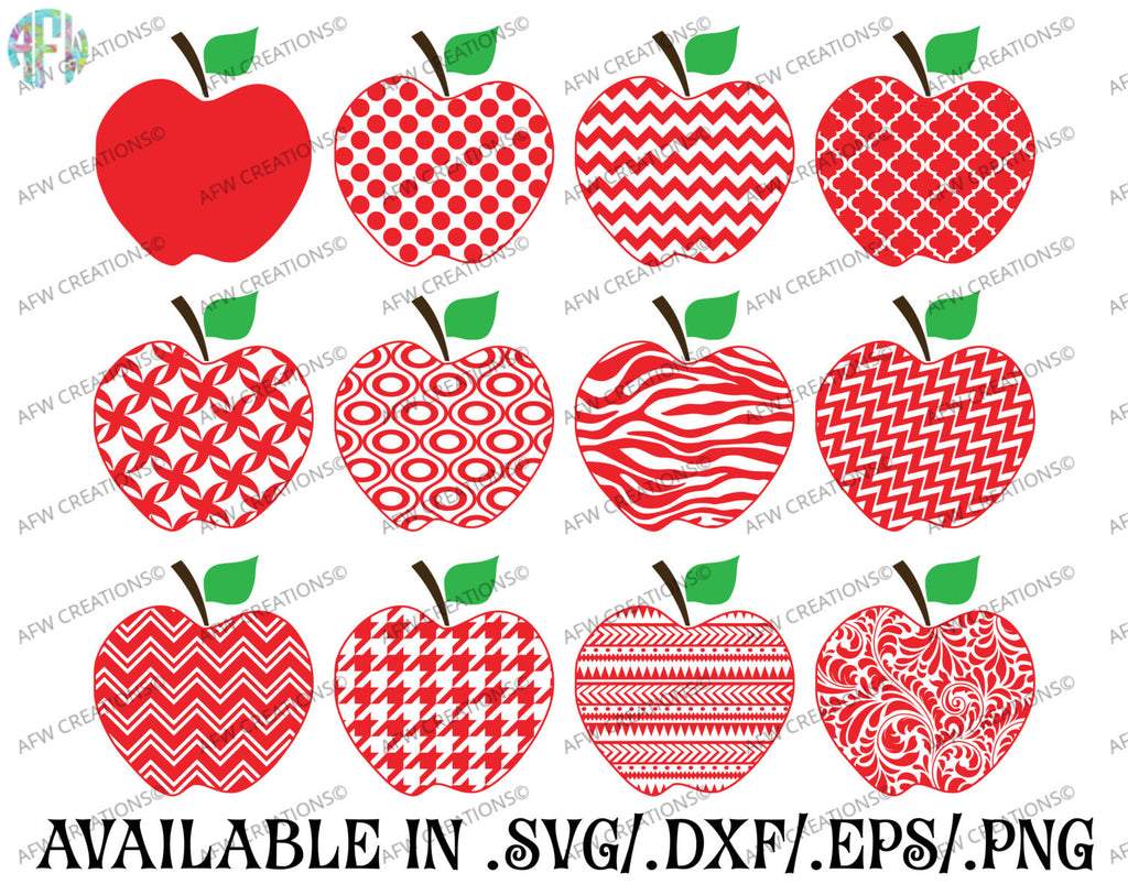 Pattern Apples - SVG, DXF, EPS