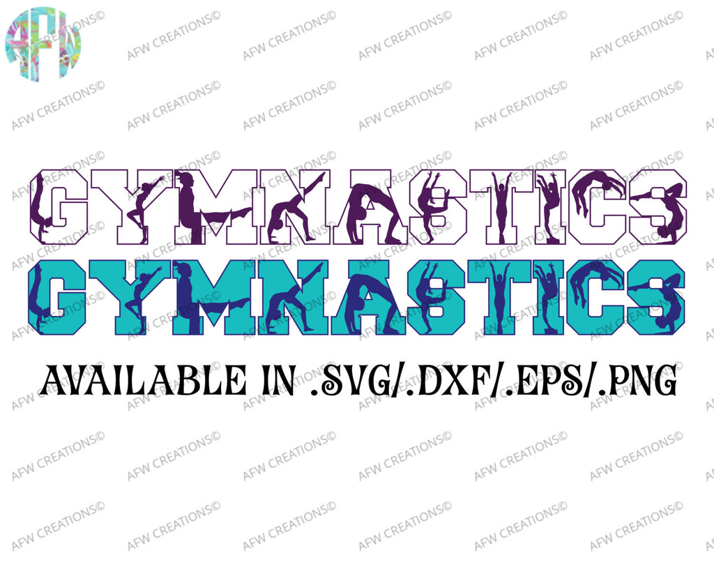 Gymnastics Silhouettes - SVG, DXF, EPS