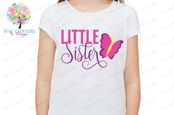 Little Sister - Butterfly - SVG, DXF, EPS