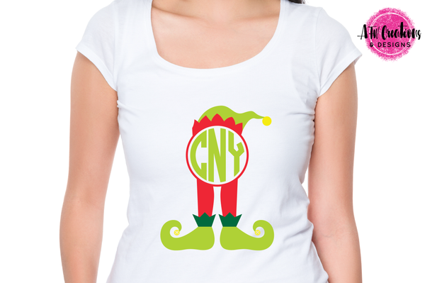 Monogram Elf Legs - SVG, DXF, EPS