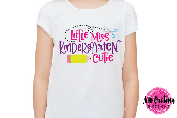 Little Miss Kindergarten Cutie - SVG, DXF, EPS