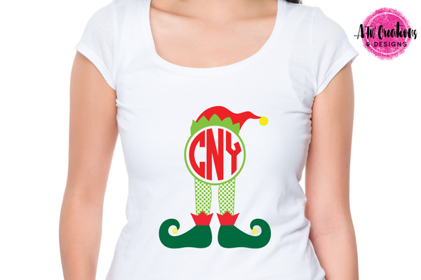 Monogram Elf Bundle - SVG, DXF, EPS