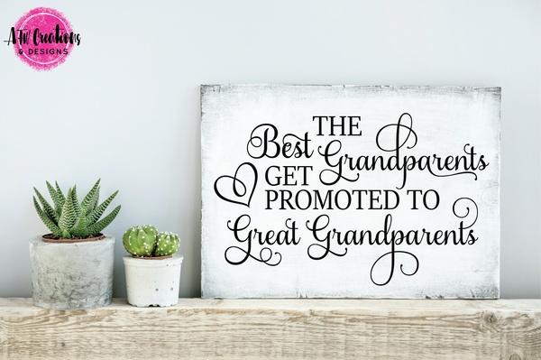 Best Grandparents Get Promoted - SVG, DXF, EPS