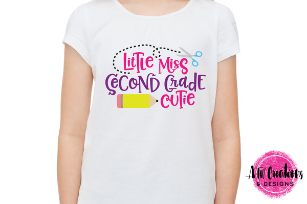 Little Miss Second Grade Cutie - SVG, DXF, EPS