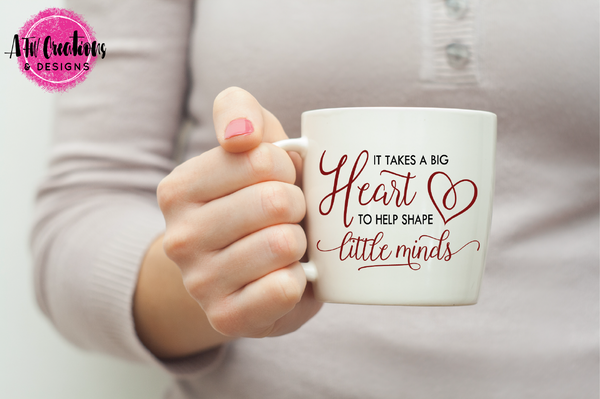It Takes a Big Heart - SVG, DXF, EPS