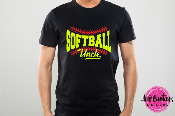 Softball Uncle - SVG, DXF, EPS