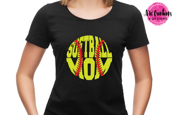 Softball Mom - SVG, DXF, EPS