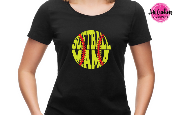Softball Mama - SVG, DXF, EPS