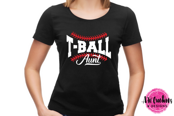 T-Ball Aunt - SVG, DXF, EPS