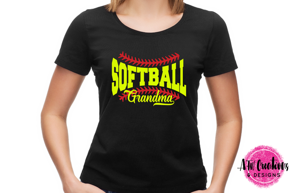 Softball Grandma - SVG, DXF, EPS