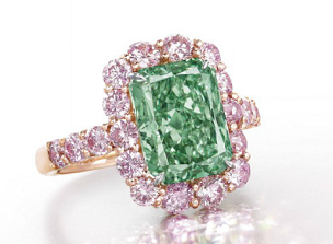 $16.8 Million Auction Record for Green Diamond