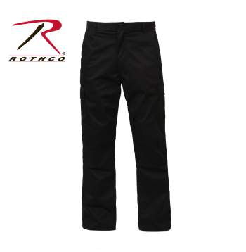 Rothco Zipper Fly BDU Pants Black