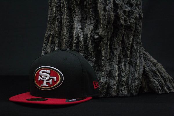 sf 49ers fitted black hat