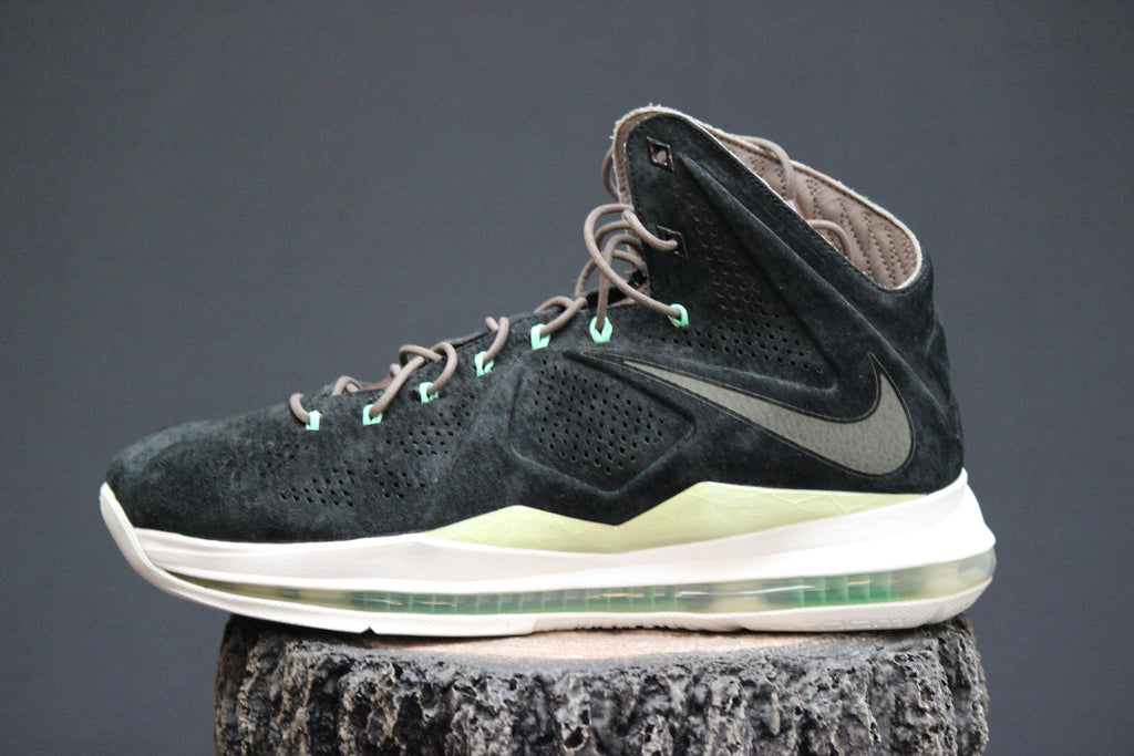 013cd9c6378 Nike Lebron X EXT QS Black Suede – Redwood Sole