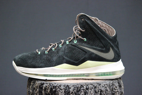 nike lebron x ext qs black suede