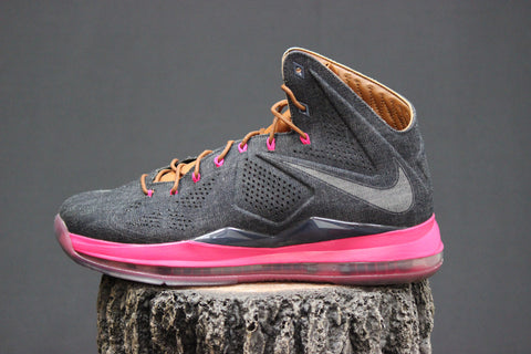 official photos 4f9c9 d3cdd Nike Lebron X EXT Denim QS – Redwood Sole