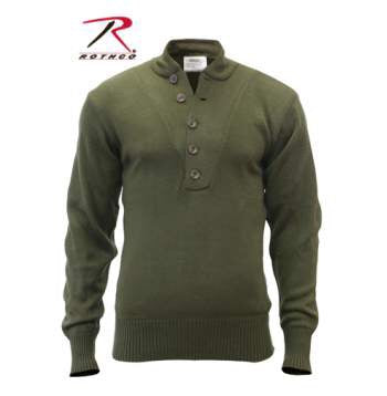 Rothco 5-Button Acrylic Sweater Olive