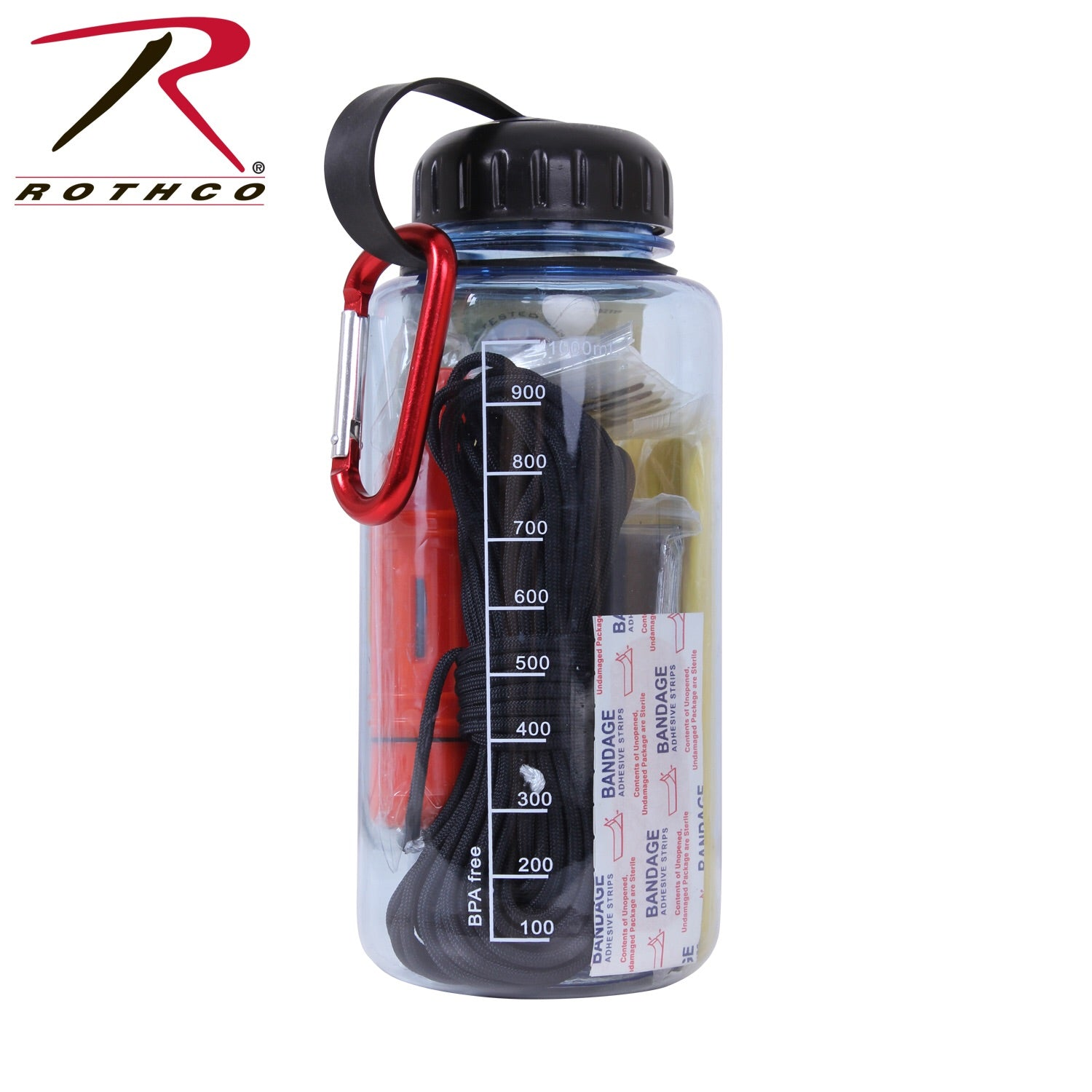 Rothco Water Bottle/Survival Kit