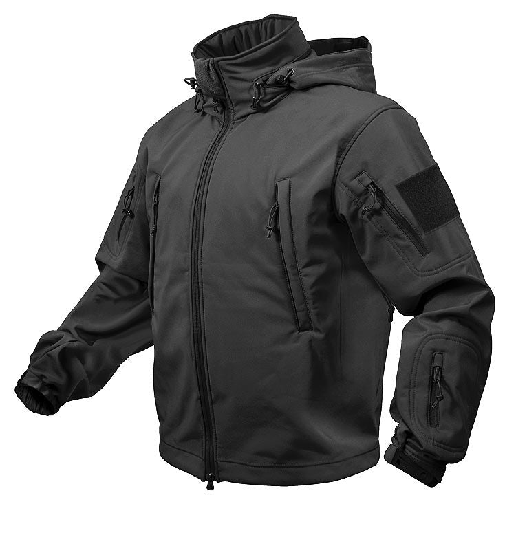 Rothco Special Ops Soft Shell Jacket Black