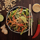 Raw Phad Thai with Lime and Coconut Dressing