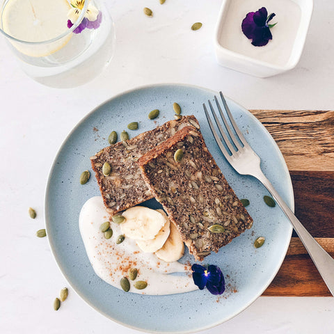 Superfood Banana Bread with Coconut Yoghurt