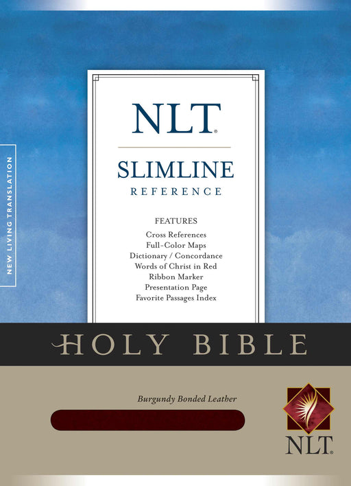 NLT2 Slimline Reference Bible-Burgundy Bonded Leather