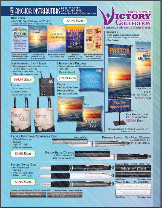 ~Banner Wholesale Catalog/Victory Church Products