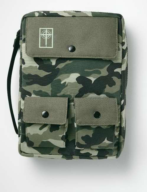 Bible Cover-Cargo Nylon W/Handle-Large-Camouflage