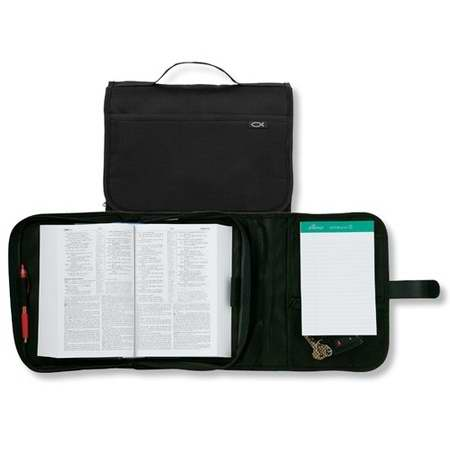 Bible Cover-Tri Fold Organizer (Value)-Large-Black