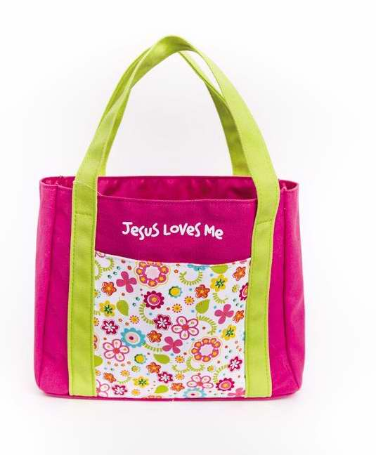 Bible Carrier--My First Church Bag (Jesus Loves Me)-Medium