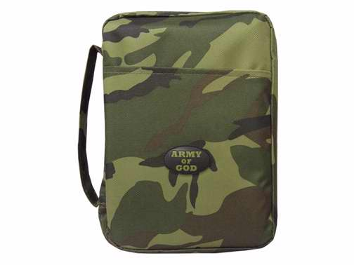 Bible Cover-Canvas-Army Of God-Large-Camouflage