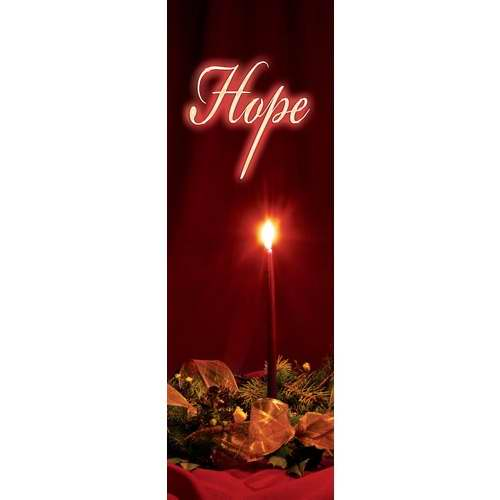 Banner-:C-Advent Candles-Hope (Indoor)