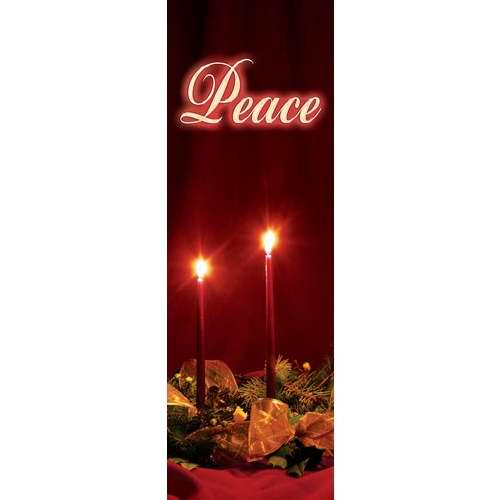 Banner-:C-Advent Candles-Peace (Indoor)