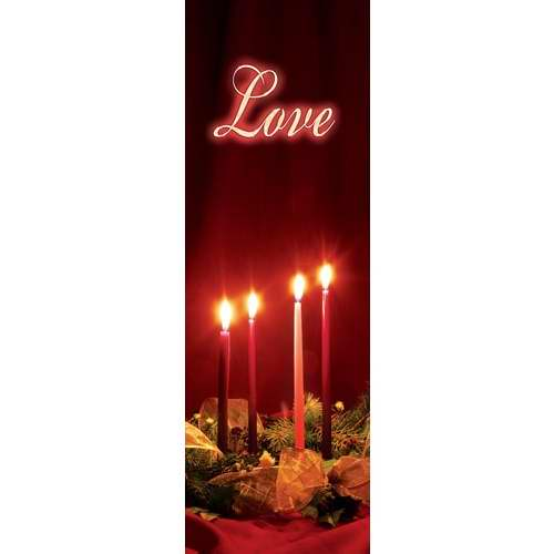 Banner-:C-Advent Candles-Love (Indoor)