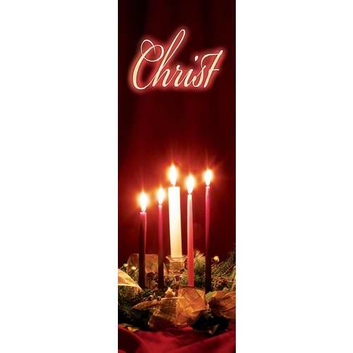 Banner-:C-Advent Candles-Christ (Indoor)