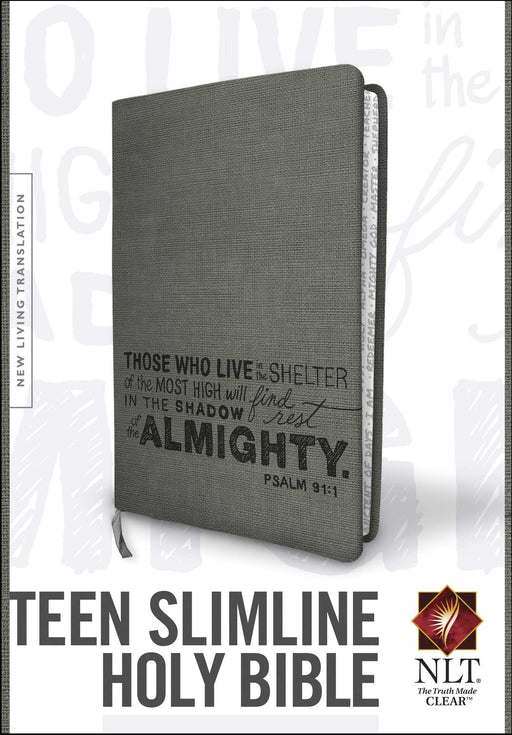 NLT2 Teen Slimline Bible/Psalm 91-Charcoal TuTone